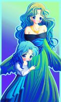 Motherly Michiru by Tetiel