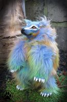 Lumen the technicolour dream bear poseable doll! by CreaturesofNat