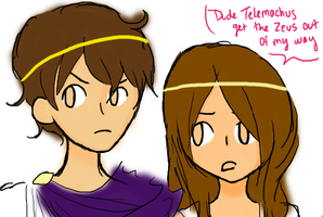 telemachus and nausicaa wip by fire-inferno