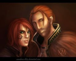 Prize art: Marian and Anders by wanderer1812