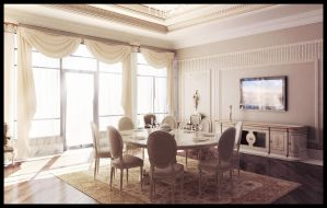 Classic Dining Room by Scrapler