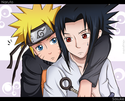 Naruto and Sasuke by SkyGiratina00