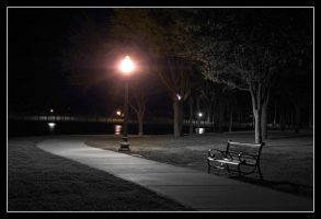 Park Bench - 3 by Delusionist