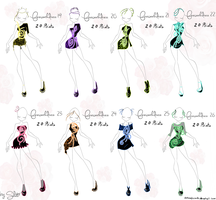 Fireworkdress Adoptables Set 3 by Coloralecante