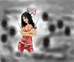 Elektra And The hand by belzebbub