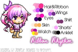 Ribbon Rhythm OC Reference by Firepoppy