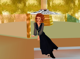River song in tardis by LokiLaufeysen