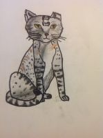 Silverleopard ( Colored and Lined ) by IriisKitty