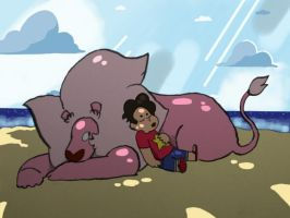 Steven and Lion by Novern