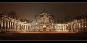 Dresden Zwinger at Night DRI by Niceshoot