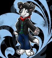 Kristian the Border Collie by Sephyfluff