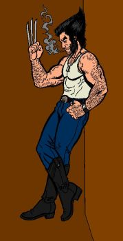 wolverine in civvies clothes by blood-red-kenn