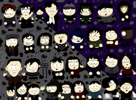 South Park Turns GOTH by DalDalDal1994