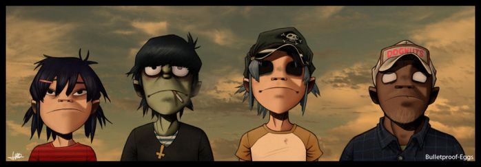 Gorillaz by Bulletproof-Eggs