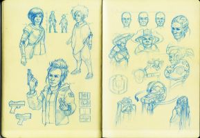 Sketchbook page by Shady-Rogue