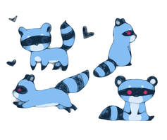 Raccoons for Ninny by BakaMichi