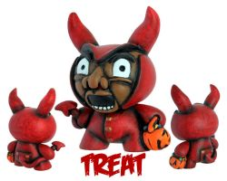 Dunny Monster : Painted Treat by zombiemonkie