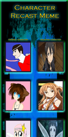 SAO Character Re Cast Meme by V1EWT1FUL