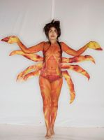 Crab body painting by lauraart