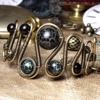 Fire Agate Steampunk Bracelet by CatherinetteRings