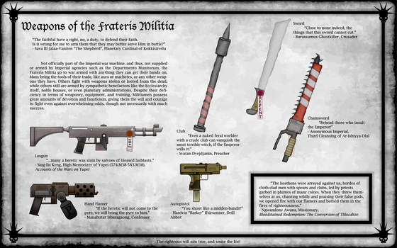 Practice - Weapons of the Frateris Militia by whatkop