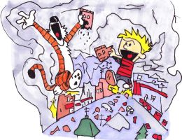 Calvin and Hobbes destroyer of worlds by ButtWiper