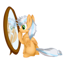 REQUEST- Pony in the Mirror by ShyShyOctavia
