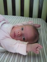 Claire at One Month by 19cartwheels