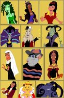 Disney Villains Switched Gender by Anele1988