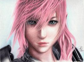 Final Fantasy 13-Lightning by AzureZefer