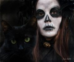 Witch And Cat by jhutter