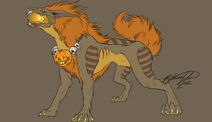 Pumpkin Foo Dog by Grimm-Dream