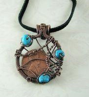 Lucky Penny Copper and Wrapped by DesertShineJewelry