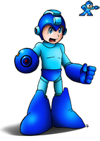 Mega Man 25th: Mega Man by SonicKnight007