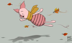 .: Flying Piglet :. by melimelo