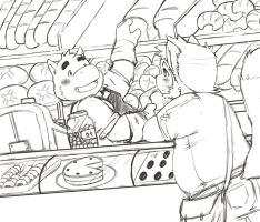 Bakery Sketch by FatYogi