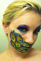 Peacock Face 2 by throughtherain67