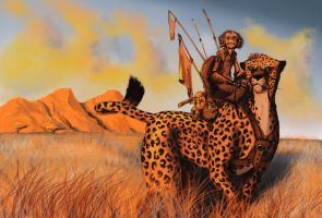 Monkey Riding A Cheetah by chillier17