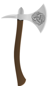 Throwing Axe for ShadowFlash by realshadowtiger