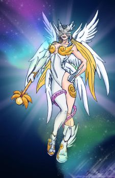 EmpressAngemon Collab by NelaNequin