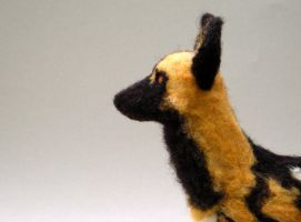 Needlefelt African Wild Dog 2 by creturfetur