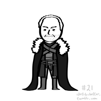 doodle request 21: roose bolton by inkblort