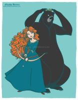 Brave, princess Merida - Disney fan art collection by ariartna