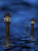Lonesome Tides Stock Image by PaperDreamerArt