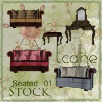 seated stock pack 01 by Ecathe