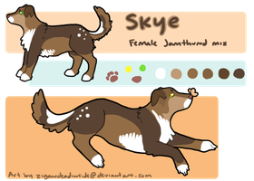Skye Ref Sheet Commission by zigan-with-felines