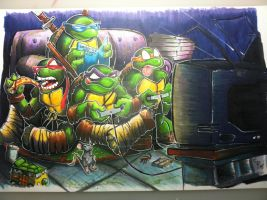 TMNT GAMING! by colepetersonart