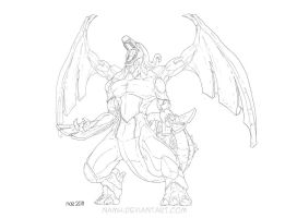 Zekrom lineart by Namh