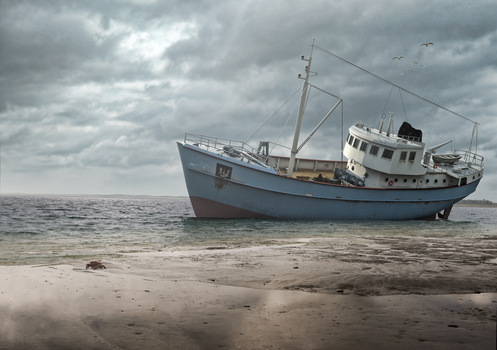 The old trawler by Remy31460