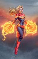 Captain Marvel by Jamie by DStPierre
